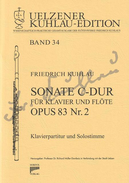 Syrinx Nr. 171 / Sonate C-Dur für Klavier und Flöte Opus 83 Nr. 2