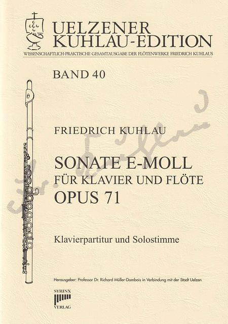 Syrinx Nr. 181 / Kuhlau Sonate e-moll für Klavier und Flöte op. 71