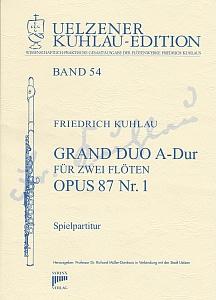 Syrinx Nr. 199 Friedrich Kuhlau Grand Duo A-Dur op.87,1 2 Flöten