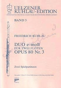 Syrinx Nr. 104 Friedrich Kuhlau Duo e-moll op.80,3 2 Flöten
