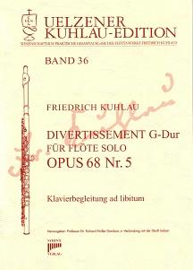 Syrinx Nr. 176 Friedrich Kuhlau Divertissement G-Dur Op.68,5