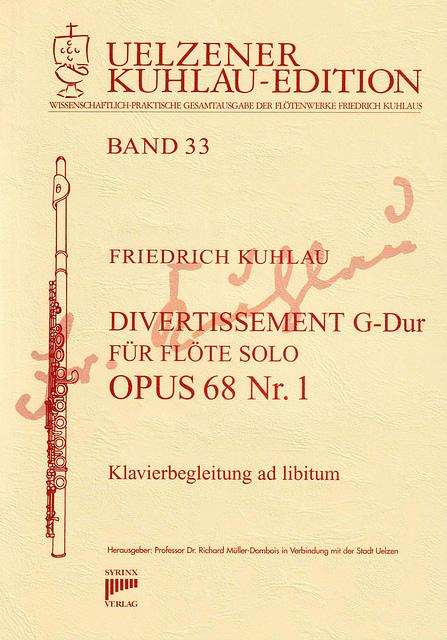Divertissement G-Dur Op.68,1 Titel