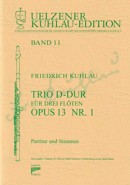 Friedrich Kuhlau Trio D-Dur op. 13 Nr. 1