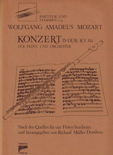 Syrinx Nr. 25 / W.A. Mozart Konzert D-Dur KV 314  (Ausgabe für 4 Flöten)