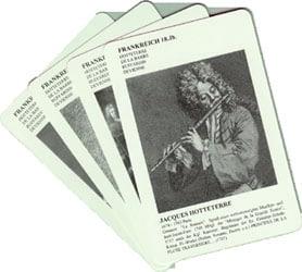 "Syrinx Nr. 49b Richard Müller-Dombois Card game Syrinx-Pack of cards ""Famous Flutists"" (english)"