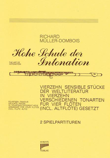 SY83 Hohe Schule der Intonation für vier Flöten