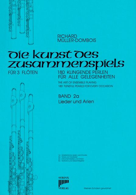 Syrinx Nr. 32 / Die Kunst des Zusammenspiels für 3 Flöten Band 2a »Lieder und Arien«