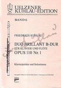 Syrinx Nr. 114 Friedrich Kuhlau Duo brillant B-Dur op.110,1 für Klavier und Flöte