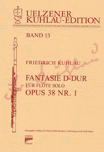 Syrinx Nr. 129 Friedrich Kuhlau Fantasie D-Dur opus 38 Nr. 1