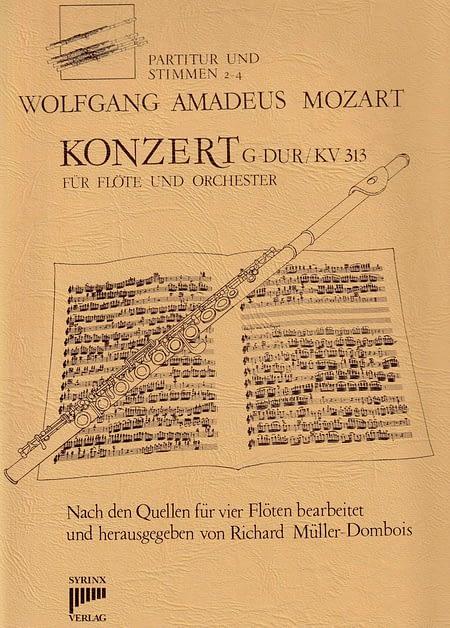 Syrinx Nr. 24 / W.A. Mozart Konzert G-Dur KV 313 (Ausgabe für 4 Flöten)