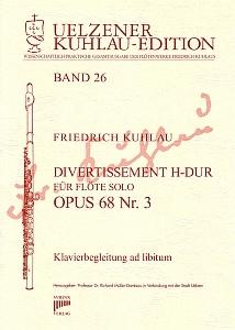 Syrinx Nr. 151 Friedrich Kuhlau Divertissement H-Dur Op.68,3