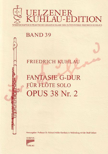 Friedrich Kuhlau FANTASIE G-Dur OPUS 38 Nr. 2 für Flöte solo