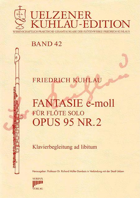 Syrinx Nr. 183 / FANTASIE e-moll OPUS 95 Nr. 2  für Flöte solo / Klavier ad libitum