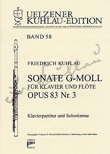 Syrinx Nr. 203 Friedrich Kuhlau Sonate g-moll für Klavier und Flöte op. 83 Nr. 3