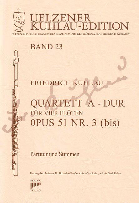 Syrinx Nr. 147 / Quartett A-Dur op. 51 Nr. 3 (bis)