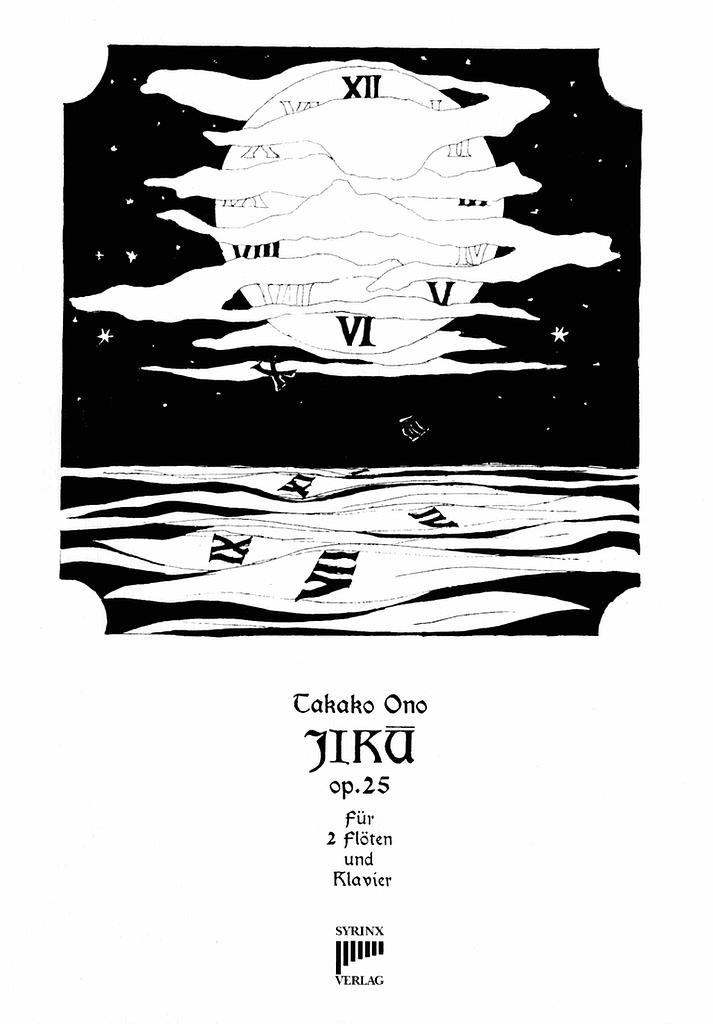 Syrinx Nr. 195 / Takako Ono / Jikū, op. 25 für 2 Flöten und Klavier